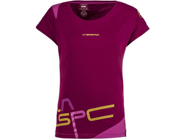 La Sportiva W's Shortener T-Shirt Plum